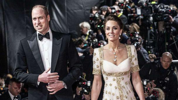 PHOTO: Prince William, Duke of Cambridge and Catherine, Duchess of Cambridge attend the EE British Academy Film Awards 2020, Feb. 2, 2020, in London. (Jeff Gilbert/Wpa Pool/Getty Images)