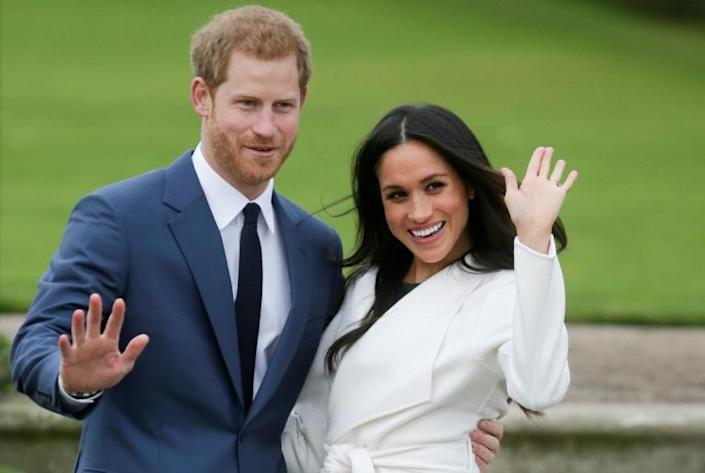 Prince Harry and Meghan (pictured in 2017) say they want to step back from the royal frontline and have more freedom (AFP Photo/Daniel LEAL-OLIVAS)