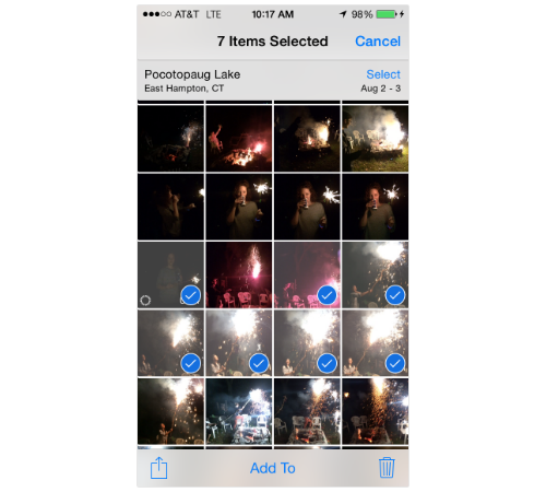 how to multiple delete photos on iphone