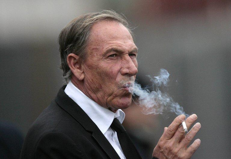 Zdenek Zeman at a match between Roma and Catania at Massimino Stadium on January 13, 2013