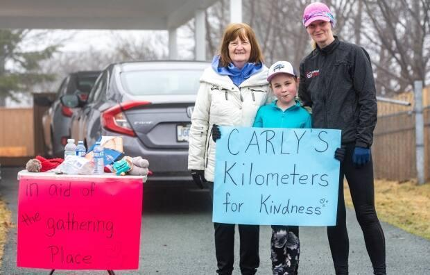 Carly completed her run around a residential area in Mount Pearl, doing 10 500-metre laps to complete her five kilometre goal.