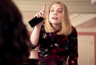 """<p>It's the moment that no doubt scored Anna Chlumsky her third Emmy nomination for the role of Amy Brookheimer, who, in one glorious 90-second meltdown, completely derailed and told President Selina Meyer (Julia Louis-Dreyfus) exactly how inept she was. """"You are the worst thing that has happened to this country since food in buckets, and maybe slavery. …"""" she ranted. """"You have achieved nothing, apart from one thing: The fact that you are a woman means we will have no more women presidents because we tried one and <i>she f–king sucked</i>."""" As <a href=""""https://www.yahoo.com/tv/emmys-anna-chlumsky-breaks-down-her-big-veep-121943969780.html"""" data-ylk=""""slk:Chlumsky told us;outcm:mb_qualified_link;_E:mb_qualified_link;ct:story;"""" class=""""link rapid-noclick-resp yahoo-link"""">Chlumsky told us</a>, """"A lot of the time, that stuff doesn't get said by the characters, and it's not meant. <a href=""""https://www.yahoo.com/tv/veep-cast-who-said-it-insult-edition-we-quiz-the-115976588860.html?soc_src=mail&soc_trk=ma"""" data-ylk=""""slk:Yes, we have many insults;outcm:mb_qualified_link;_E:mb_qualified_link;ct:story;"""" class=""""link rapid-noclick-resp yahoo-link"""">Yes, we have <i>many</i> insults</a> — and some of the insults you would think, maybe on paper, are even worse than what Amy says in this scene — but she just means it with all of her heart."""" <i>— MB</i></p><p><i>(Credit: HBO)</i></p>"""