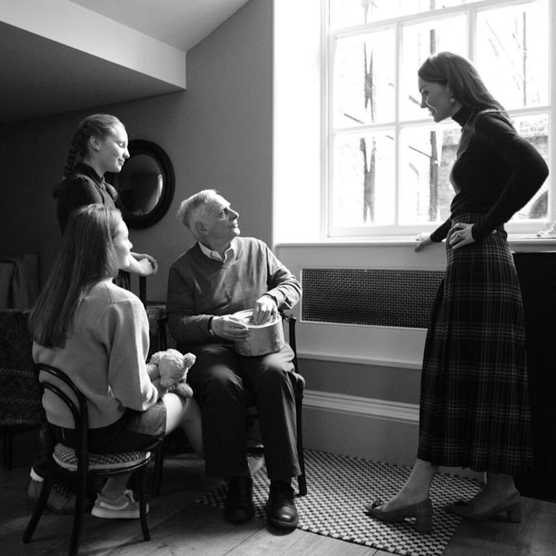 Steven Frank, his granddaughters and Kate Middleton | Kensington Palace