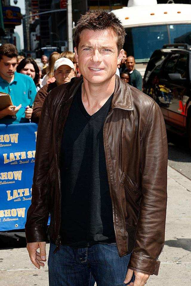 """A casual Jason Bateman arrives to tape a segment for the """"Late Show With David Letterman."""" Is it us, or is the former """"Silver Spoons"""" star getting better with age? Jeffrey Ufberg/<a href=""""http://www.wireimage.com"""" target=""""new"""">WireImage.com</a> - June 19, 2008"""