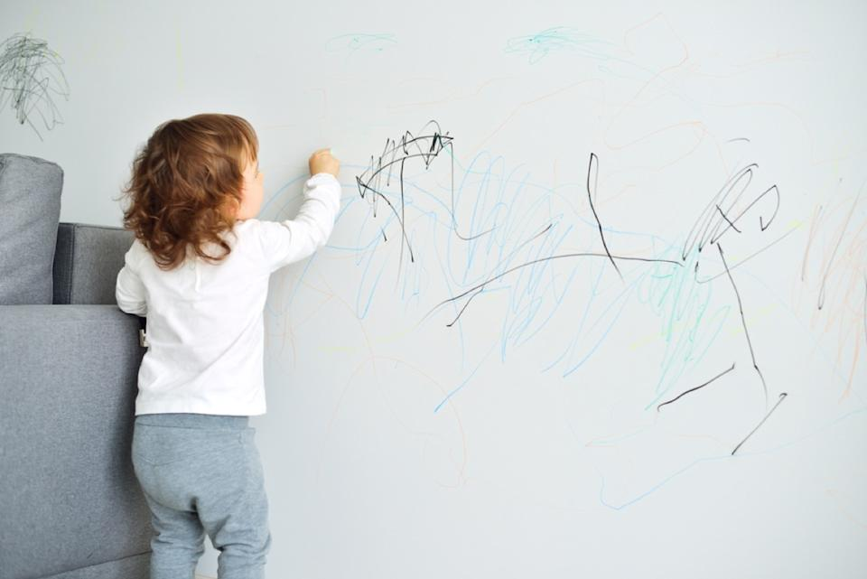 child drawing on wall, bad parenting advice