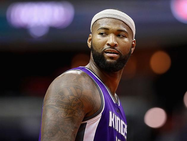 "<a class=""link rapid-noclick-resp"" href=""/nba/players/4720/"" data-ylk=""slk:DeMarcus Cousins"">DeMarcus Cousins</a> goes over his options. (Getty Images)"