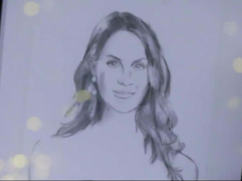 Here, I drew you a picture of Courteney Cox from popular US sitcom Friends. Source: Channel 10