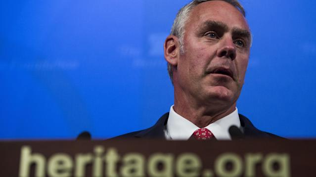 Ryan Zinke Calls Private Plane Controversy 'A Little BS'