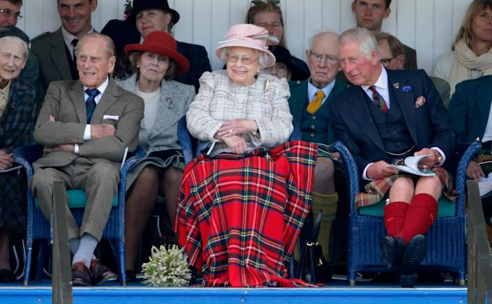 Prince Philip and Queen Elizabeth II don't often show physical affection while in public. <i>(Getty Images)</i>