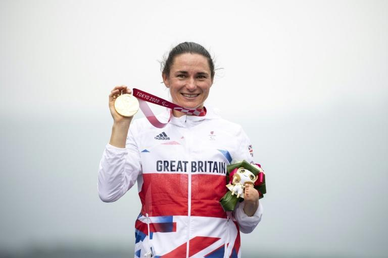Cyclist Sarah Storey became Britain's most successful Paralympian after taking a 17th gold medal (AFP/CHARLY TRIBALLEAU)
