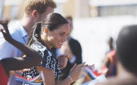 The Duke and Duchess of Sussex during their African Journey - Credit: ITV