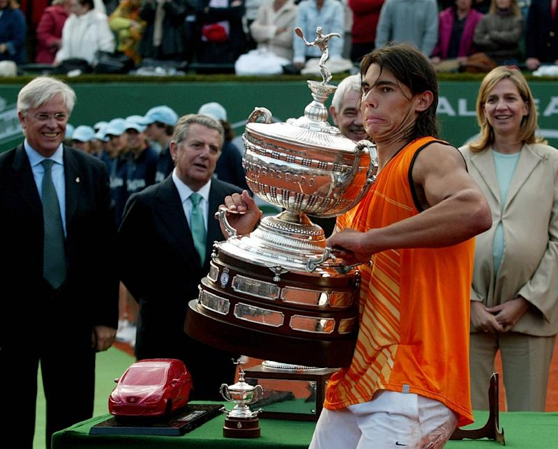 Rafael Nadal lifted the first of his Barcelona titles in 2005 and is on course for a record 12th
