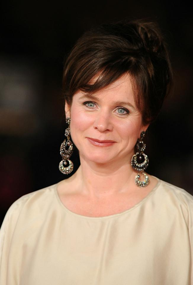 "ROME - OCTOBER 30:  Actress Emily Watson attends the ""Oranges and Sunshine"" premiere during The 5th International Rome Film Festival at Auditorium Parco Della Musica on October 30, 2010 in Rome, Italy.  (Photo by Pascal Le Segretain/Getty Images)"