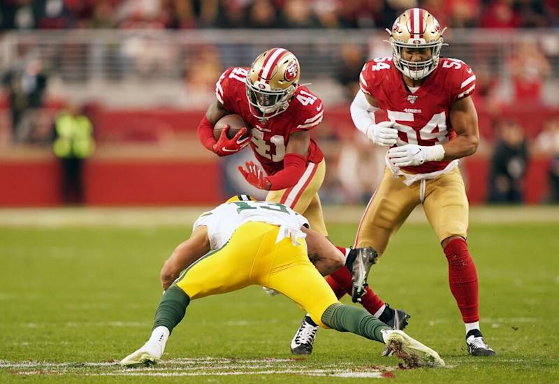 San Francisco 49ers playing the Green Bay Packers in the NFC Championship | Thearon W. Henderson/Getty Images