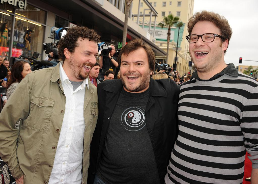 "<a href=""http://movies.yahoo.com/movie/contributor/1802103902"">Danny McBride</a>, <a href=""http://movies.yahoo.com/movie/contributor/1800180457"">Jack Black</a> and <a href=""http://movies.yahoo.com/movie/contributor/1804494942"">Seth Rogen</a> attend the Los Angeles premiere of <a href=""http://movies.yahoo.com/movie/1810090593/info"">Kung Fu Panda 2</a> on May 22, 2011."
