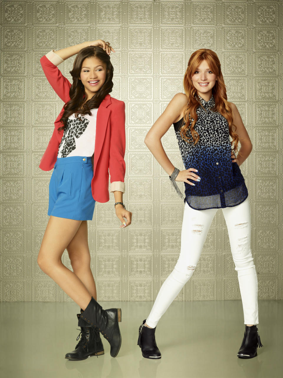 "SHAKE IT UP - Disney Channel's ""Shake It Up"" stars Zendaya as Rocky Blue and Bella Thorne as CeCe Jones. (Photo by Craig Sjodin/Disney Channel via Getty Images)"