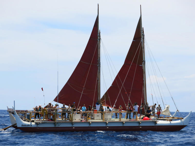 Canoe returns to Hawaii after epic round-the-world voyage