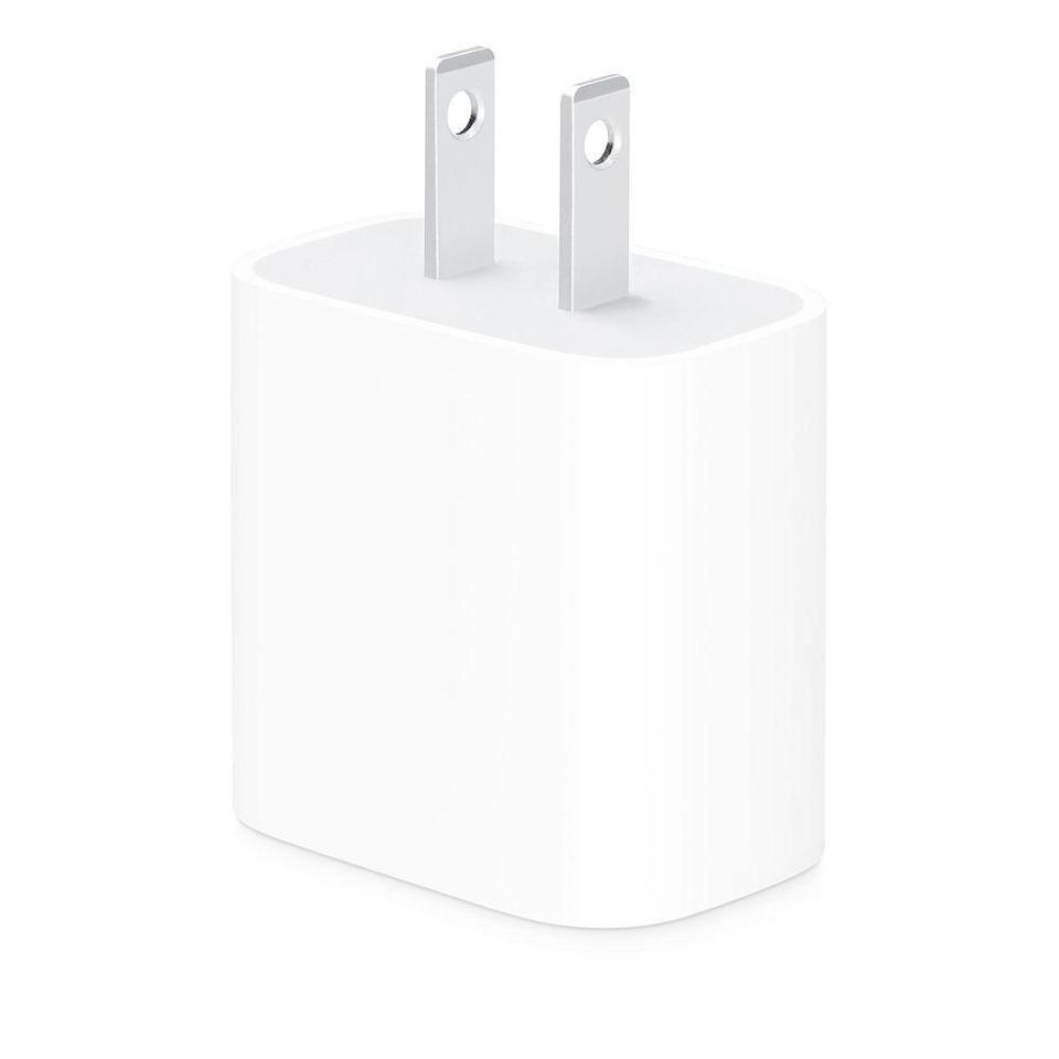 """<p><strong>Apple</strong></p><p>amazon.com</p><p><strong>$29.00</strong></p><p><a href=""""https://www.amazon.com/Apple-20W-USB-C-Power-Adapter-dp-B08L5M9BTJ/dp/B08L5M9BTJ?tag=syn-yahoo-20&ascsubtag=%5Bartid%7C2089.g.1219%5Bsrc%7Cyahoo-us"""" rel=""""nofollow noopener"""" target=""""_blank"""" data-ylk=""""slk:Shop Now"""" class=""""link rapid-noclick-resp"""">Shop Now</a></p><p>If you're wary of using a third-party charger with your smartphone or tablet, you should know that Apple has finally started selling a USB-C power adapter of its own. </p><p>The Verge <a href=""""https://www.theverge.com/2018/12/5/18127640/apple-usb-c-fast-charger-iphone-ipad-buy"""" rel=""""nofollow noopener"""" target=""""_blank"""" data-ylk=""""slk:reported"""" class=""""link rapid-noclick-resp"""">reported</a> that previously, your only official replacement option from Apple was to buy one of the more expensive Mac USB-C <a href=""""https://go.redirectingat.com?id=74968X1596630&url=https%3A%2F%2Fwww.apple.com%2Fshop%2Fmac%2Fmac-accessories%2Fpower-cables%3Fpage%3D1%23%21%26f%3Dcharger%26fh%3D4595%252B45d4&sref=https%3A%2F%2Fwww.bestproducts.com%2Ftech%2Fgadgets%2Fg1219%2Fusb-chargers-and-ports%2F"""" rel=""""nofollow noopener"""" target=""""_blank"""" data-ylk=""""slk:adapters"""" class=""""link rapid-noclick-resp"""">adapters</a>. This cheaper charger used to only be available with purchase of an iPad Pro, but now you can buy it separately. </p><p>If you're an Android user, we recommend <a href=""""https://www.amazon.com/Google-Pixelbook-45W-Type-C-Charger/dp/B075KH546K/?tag=syn-yahoo-20&ascsubtag=%5Bartid%7C2089.g.1219%5Bsrc%7Cyahoo-us"""" rel=""""nofollow noopener"""" target=""""_blank"""" data-ylk=""""slk:this 45-watt USB-C charger"""" class=""""link rapid-noclick-resp"""">this 45-watt USB-C charger</a>, which also comes with a USB-C cable.</p>"""