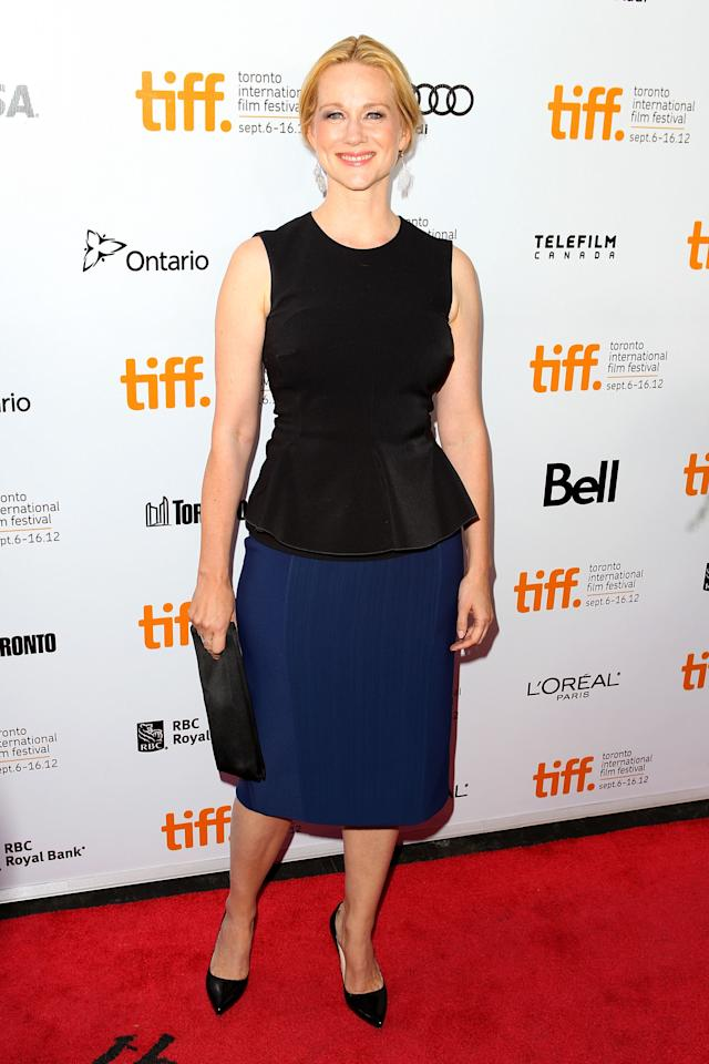 "WORST: Laura Linney is one of our favourite actresses and we're sure she's great in the FDR film ""Hyde Park On The Hudson."" But the peplum of this outfit only serves to make her look downright matronly."