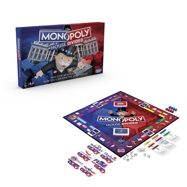 The box and board for the latest <em>Monopoly</em> edition <em>House Divided</em>. (Photo: Hasbro)