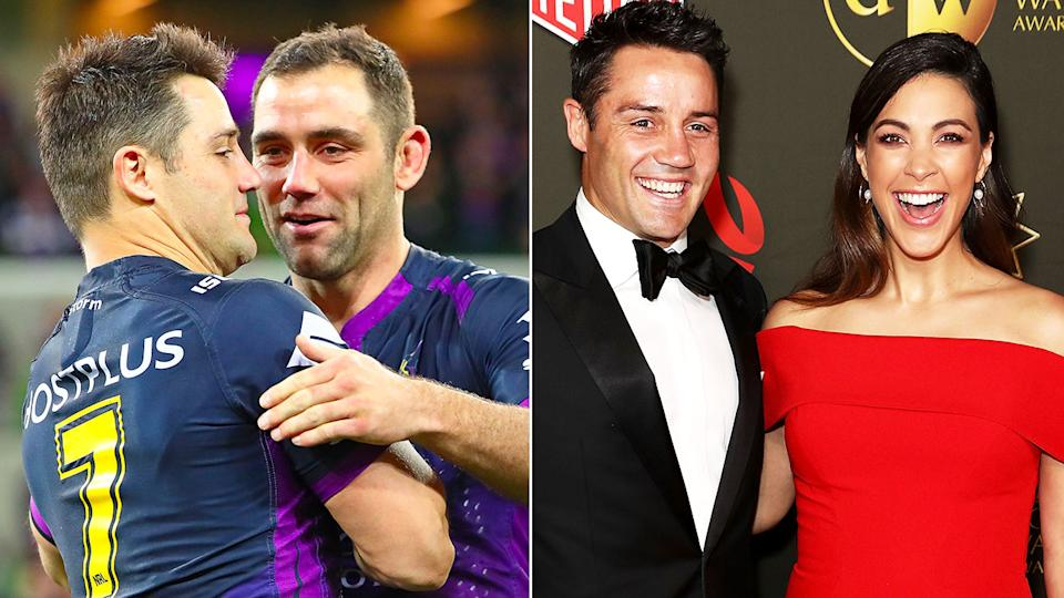 Seen here, former teammates Cam Smith and Cooper Cronk, as well as Tara Rushton.