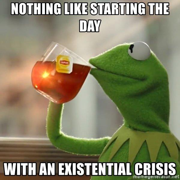 nothing like starting the day with an existential crisis meme