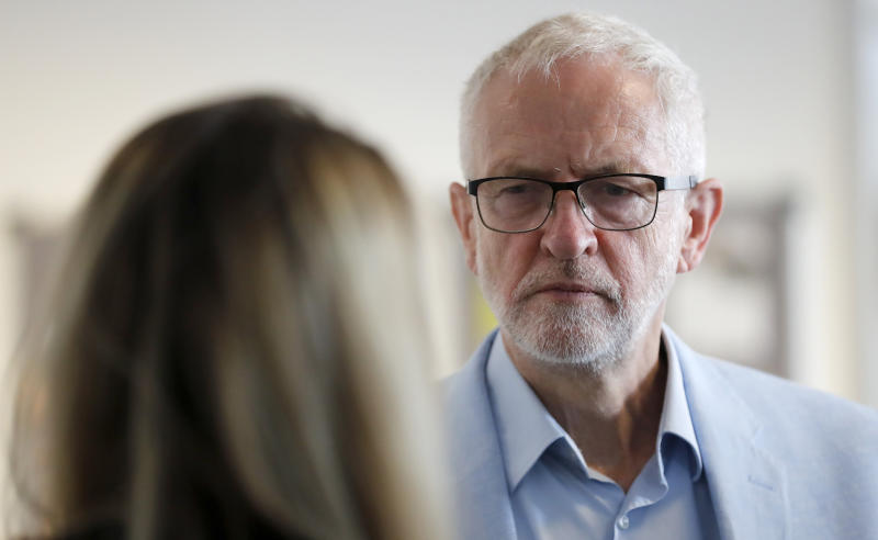 Britain's opposition leader Jeremy Corbyn
