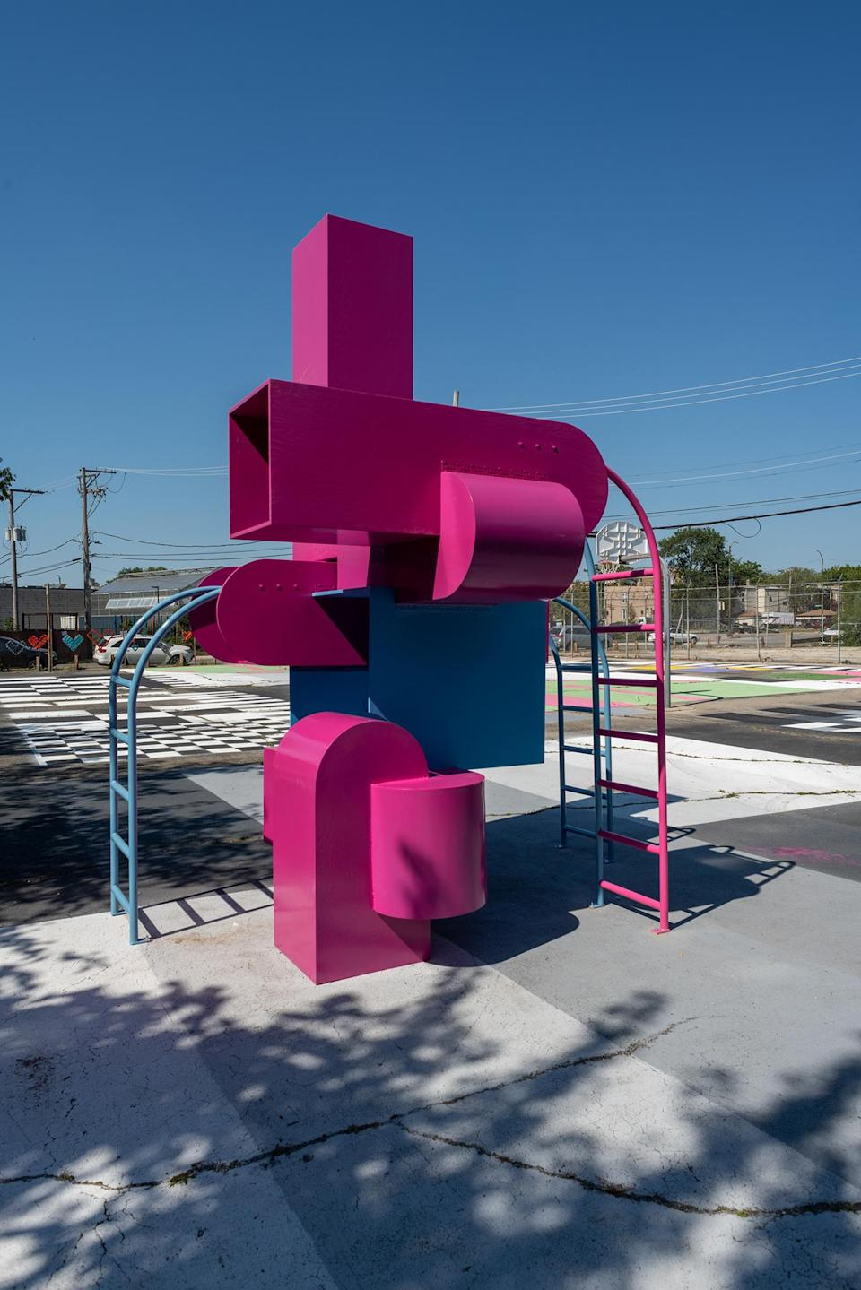 """Studio Barnes' """"Block Party"""" in Chicago. - Credit: Nathan Keay/Courtesy Chicago Architect Biennial"""