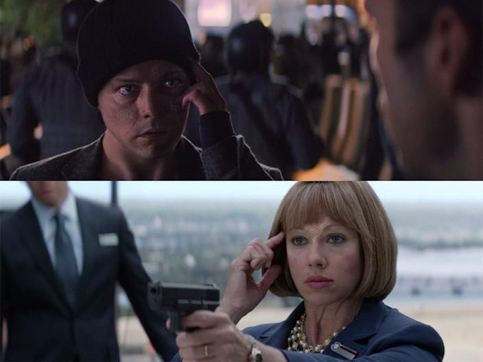 the falcon and the winter soldier 106 detail sharon natasha disguise mask