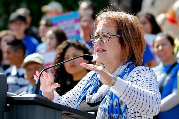California state Sen. María Elena Durazo (D) sponsored S.B. 62, a new law that ends piece rate work in the state's garment industry. (Photo: via Associated Press)