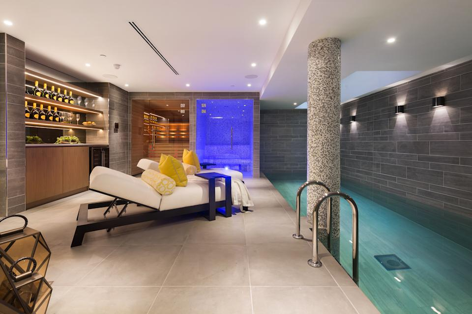, a passenger lift, a private cinema, a sauna and steam room and two underground parking bays. Photo: Beauchamp Estates and Wetherell