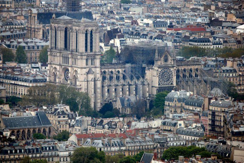 Notre Dame was ravaged by fire, prompting a global outpouring of emotion (Picture: Reuters)