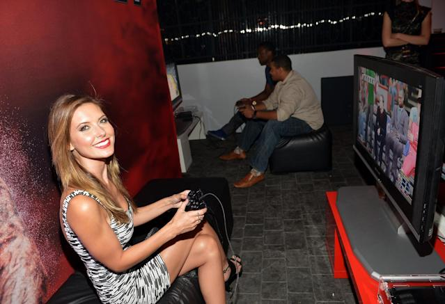 WEST HOLLYWOOD, CA - SEPTEMBER 24: Audrina Patridge attends the NBA 2K14 premiere party at Greystone Manor on September 24, 2013 in West Hollywood, California. (Photo by Charley Gallay/Getty Images for 2K)
