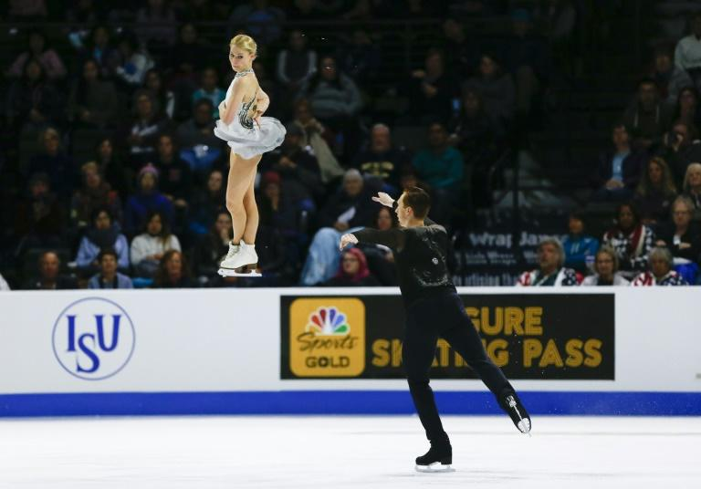 The pairs title at Skate America went to reigningEuropean champions Evgenia Tarasova and Vladimir Morozov of Russia