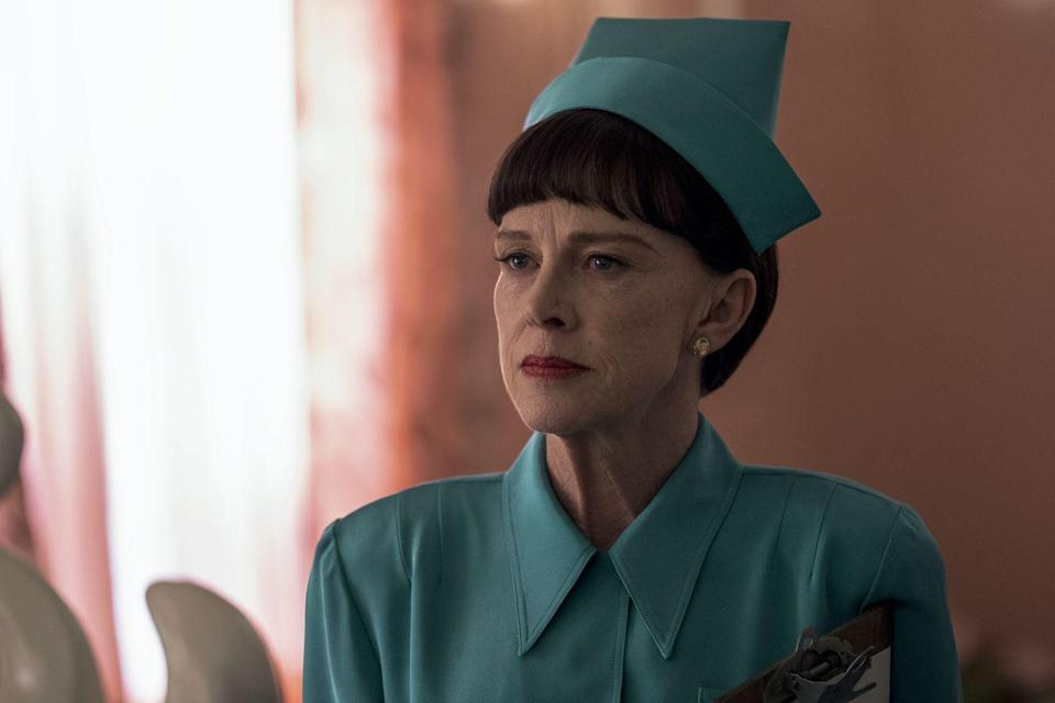 <p>An Academy Award nominee and a Golden Globe winner, Davis is a Hollywood veteran who entered the Murphy-verse through 2017's <em>Feud</em>. In <em>Ratched</em>, she plays Betsy Bucket, the hospital's scheming head nurse who finds herself at odds with Nurse Ratched.</p>