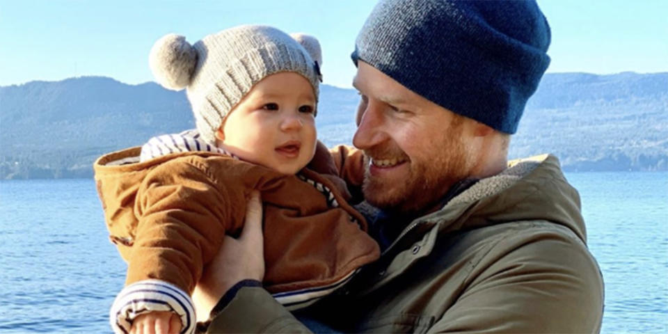 Prince Harry Holds Archie ahead of first birthday