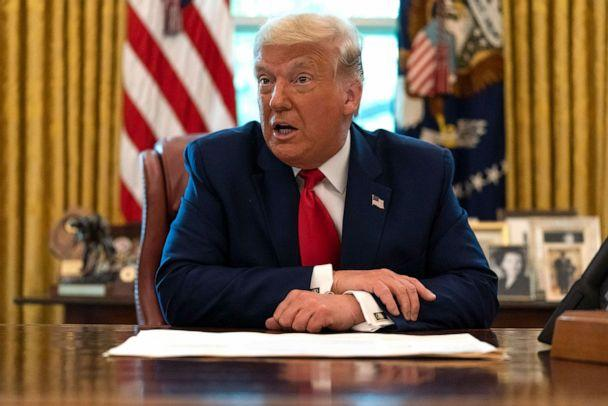 PHOTO: President Donald Trump speaks in the Oval Office at the White House, Sept. 17, 2020, in Washington. (Alex Brandon/AP, FILE)