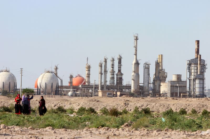 FILE PHOTO: A general view of the South Gas Company in Basra