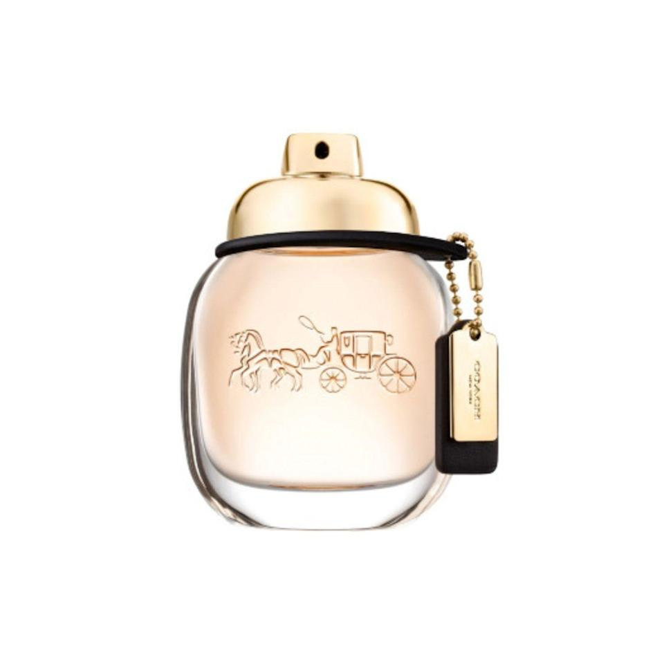 """<p><strong>Coach</strong></p><p>ulta.com</p><p><strong>$62.00</strong></p><p><a href=""""https://go.redirectingat.com?id=74968X1596630&url=https%3A%2F%2Fwww.ulta.com%2Fcoach-eau-de-parfum%3FproductId%3DxlsImpprod14501026&sref=https%3A%2F%2Fwww.thepioneerwoman.com%2Fhome-lifestyle%2Fg34061027%2F50th-birthday-gift-ideas%2F"""" rel=""""nofollow noopener"""" target=""""_blank"""" data-ylk=""""slk:Shop Now"""" class=""""link rapid-noclick-resp"""">Shop Now</a></p><p>Ree loves receiving perfume because she hates shopping and doesn't have time to sniff all the scents. 😂 This raspberry, rose, and musk scent from Coach is one of her all-time faves. And she actually found out about it at the Merc. """"I took a picture with someone who smelled so good, I decided I had to smell just like her!"""" Ree says.</p>"""