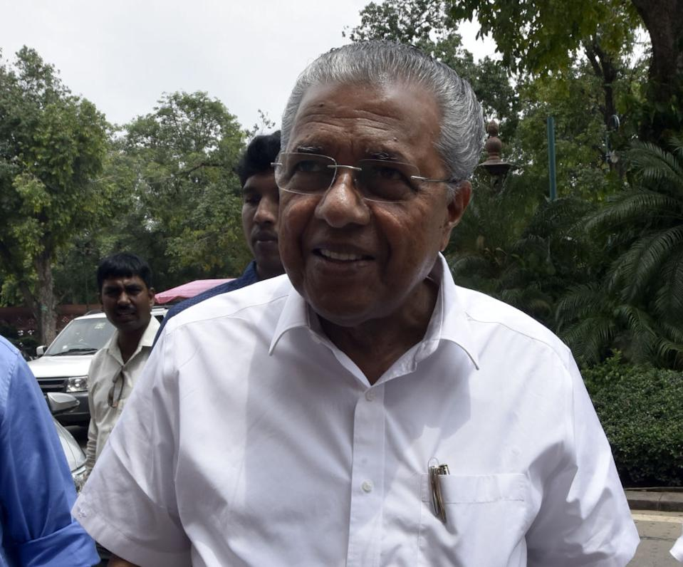 <p><strong>WINS </strong>from <strong>Dharmadam</strong> (Kerala) against C Raghunathan (Congress) by 50, 123 votes</p>