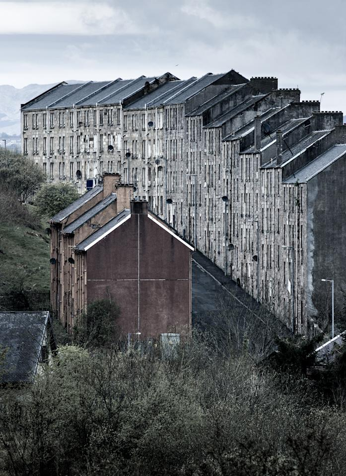'Condemned', Port Glasgow, Inverclyde, Scotland: Simon Butterworth's shot of an imposing row of traditional Scottish tenement buildings was declared the winner of the Urban View, adult class section. (Simon Butterworth, Landscape Photographer of the Year)