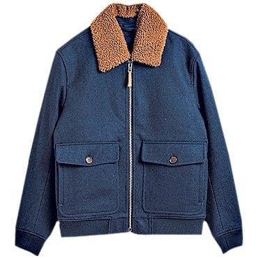 Wool flight jacket, £325, Gant