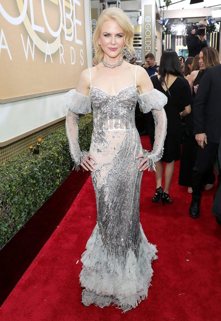 BEVERLY HILLS, CA - JANUARY 08: 74th ANNUAL GOLDEN GLOBE AWARDS -- Pictured: Actress Nicole Kidman arrives to the 74th Annual Golden Globe Awards held at the Beverly Hilton Hotel on January 8, 2017. (Photo: Neilson Barnard/NBCUniversal/NBCU Photo Bank via Getty Images)