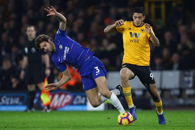 Alonso struggled in Chelsea's defeat against Wolves