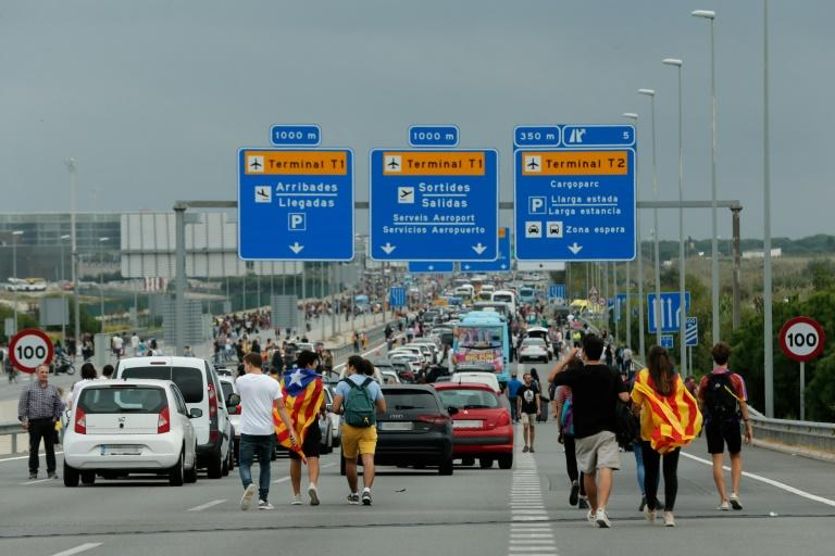 The protesters managed to temporarily cut off Barcelona's El Prat airport, the second busiest in Spain