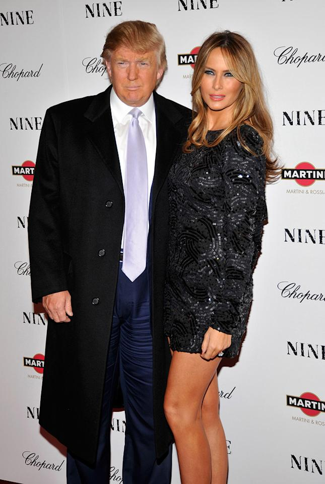 """<a href=""""http://movies.yahoo.com/movie/contributor/1808849098"""">Donald Trump</a> and wife Melania at the New York City screening of <a href=""""http://movies.yahoo.com/movie/1810053986/info"""">Nine</a> - 12/15/2009"""