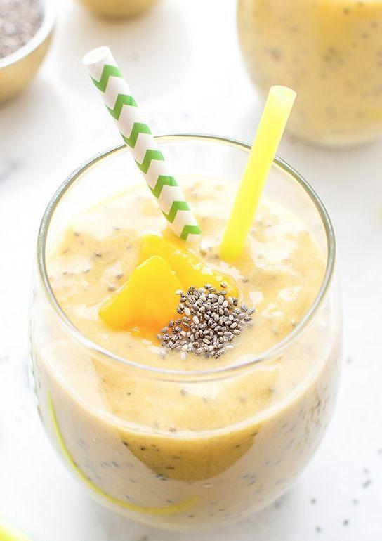 "<p>The chia seeds in this smoothie are full of fiber, which will keep you fuller longer. Mangos are also a great fruit that is <a href=""https://food.ndtv.com/food-drinks/does-mango-make-you-gain-weight-1680450"" rel=""nofollow noopener"" target=""_blank"" data-ylk=""slk:low in carbs and fat"" class=""link rapid-noclick-resp"">low in carbs and fat</a>, according to NOTV Food. That said, a little mango goes a long way, so stick to the serving size to avoid having too much sugar in your drink.<br></p><p><em>Get the recipe at the <a href=""https://beamingbaker.com/mango-chia-seed-smoothie-vegan-gluten-free/"" rel=""nofollow noopener"" target=""_blank"" data-ylk=""slk:Beaming Baker."" class=""link rapid-noclick-resp"">Beaming Baker.</a></em></p>"