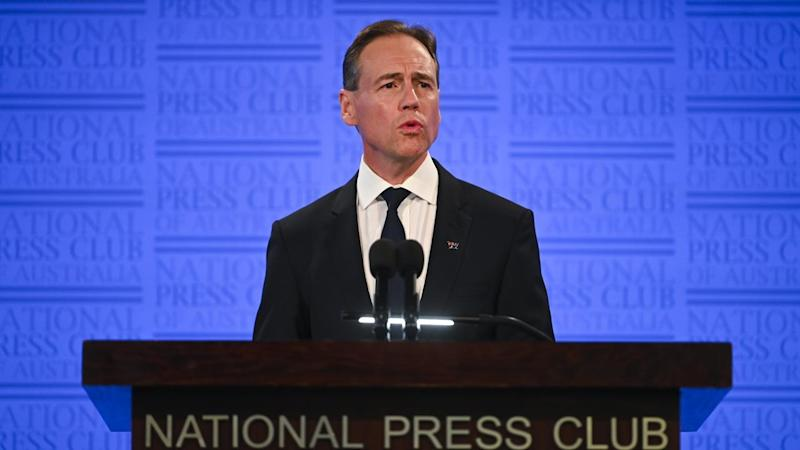Health Minister Greg Hunt wants the number of Australians that smoke to fall below 10 per cent