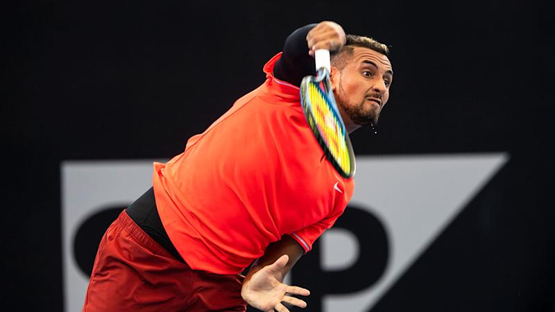 Kyrgios through to Brisbane 2nd round after victory over Harrison