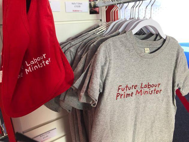 Baby clothes on sale at Labour Party conference 2021 (Photo: HuffPost UK)